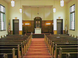 The sanctuary, B'nai Israel synagogue, Hattiesburg, MS